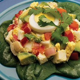 tomato avocado egg salad