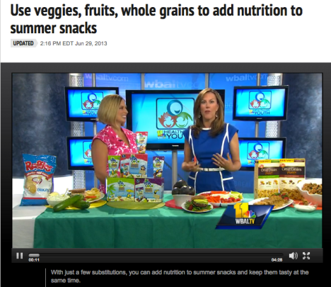 Add nutrition to summer staples. WBAL video.