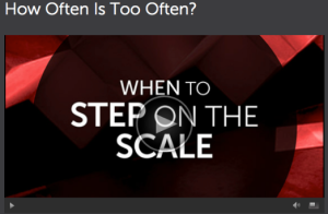 When to Step on the Scale