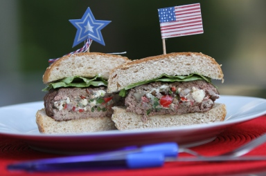 Red White Blue Burger
