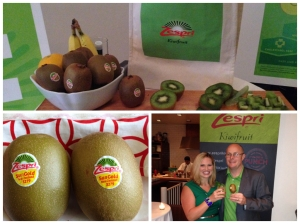 Enjoying a Kiwi Mojito with Team Zespri