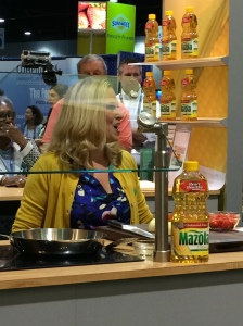 Making chicken tinga tacos at FNCE 2014