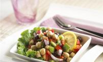 Lemon pepper chickpea salad